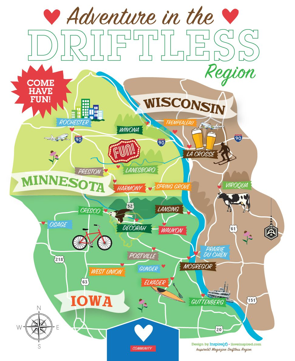 Driftless map