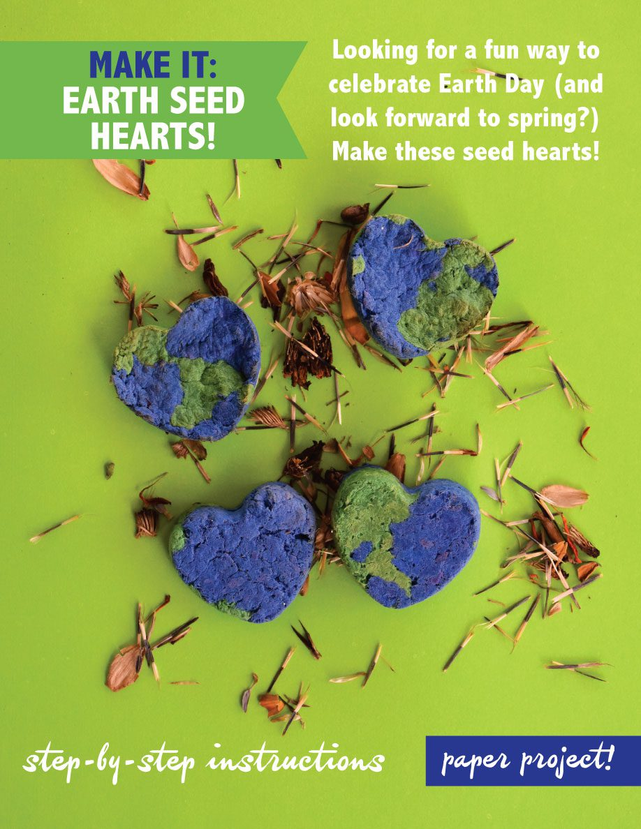 Learn how to make Earth Paper Seed Hearts