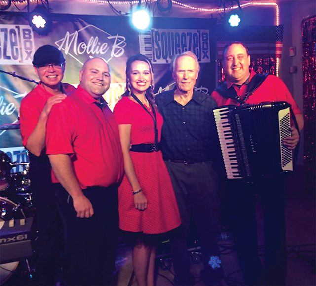 Mollie B. and Squeezebox with Clint Eastwood