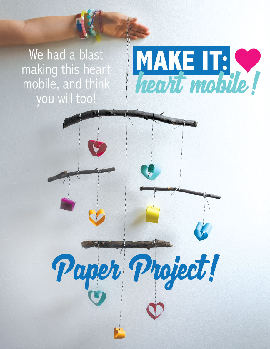 Learn how to make a heart mobile with foraged sticks!
