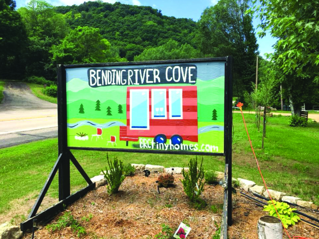 Sign at Bending River Cove