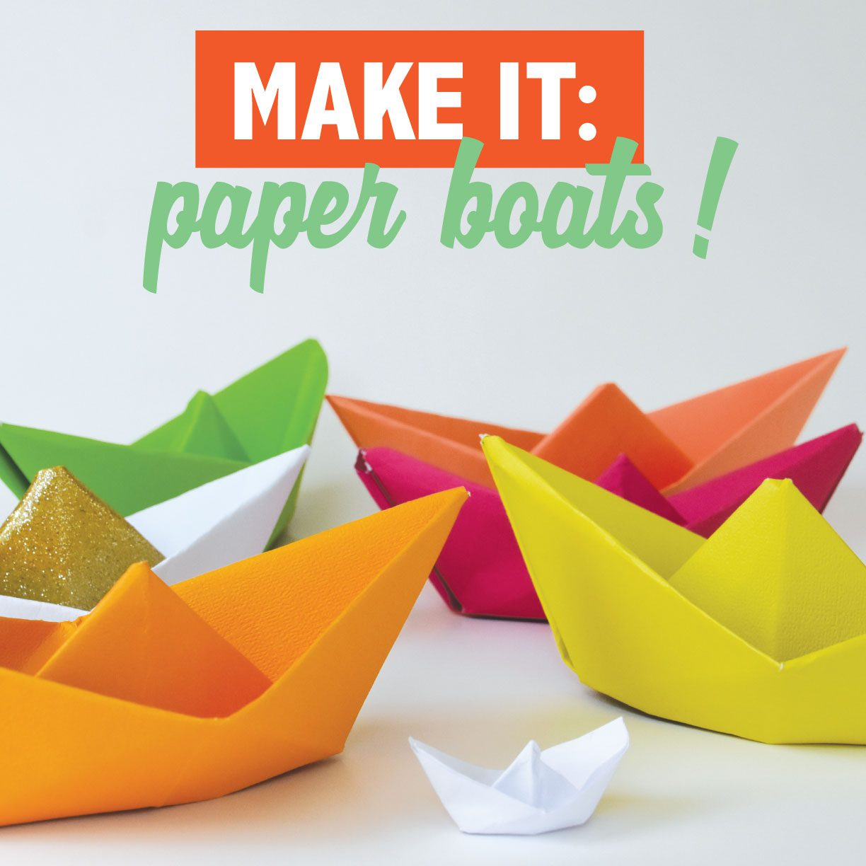 Learn how to make origami paper boats from Roxie!