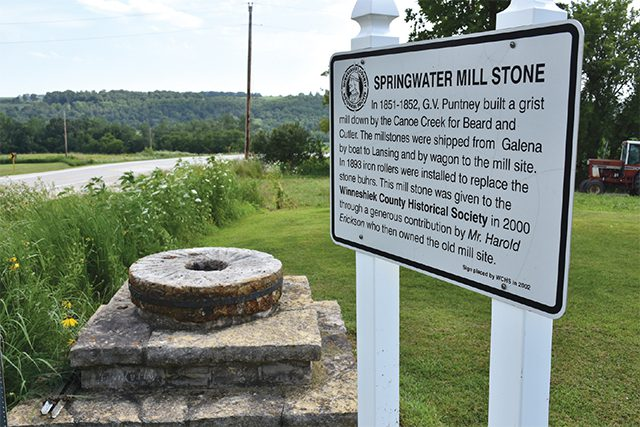 Last remaining stone from Springwater Mill