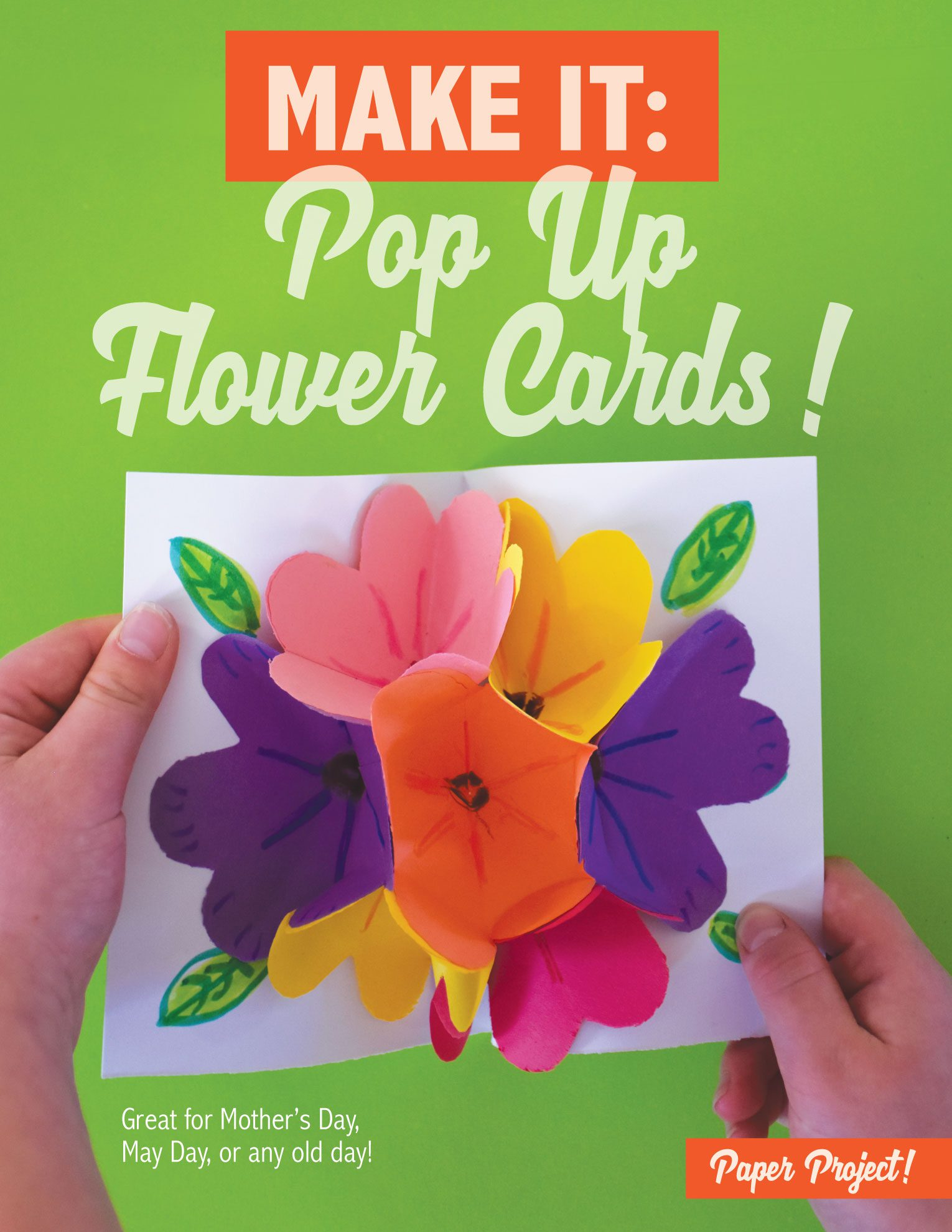 Learn how to make pop-up paper flower cards!