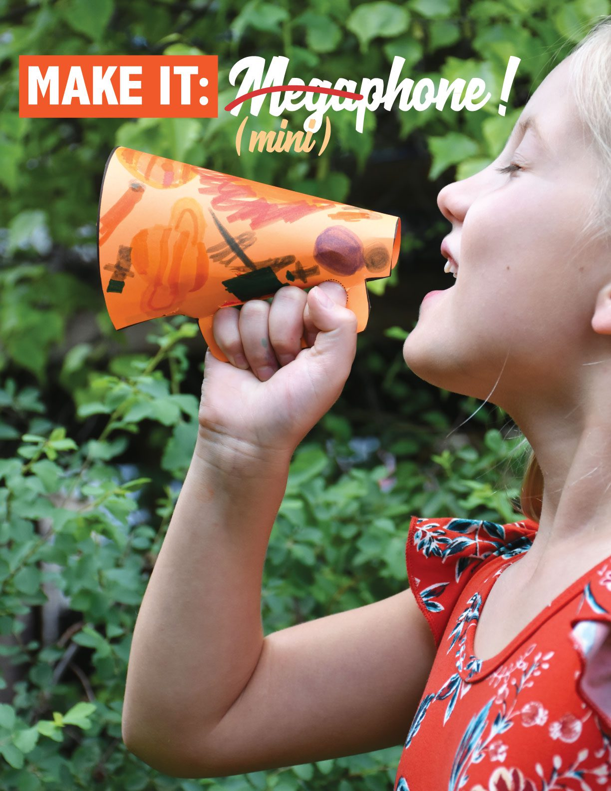 Learn how to make mini megaphones!