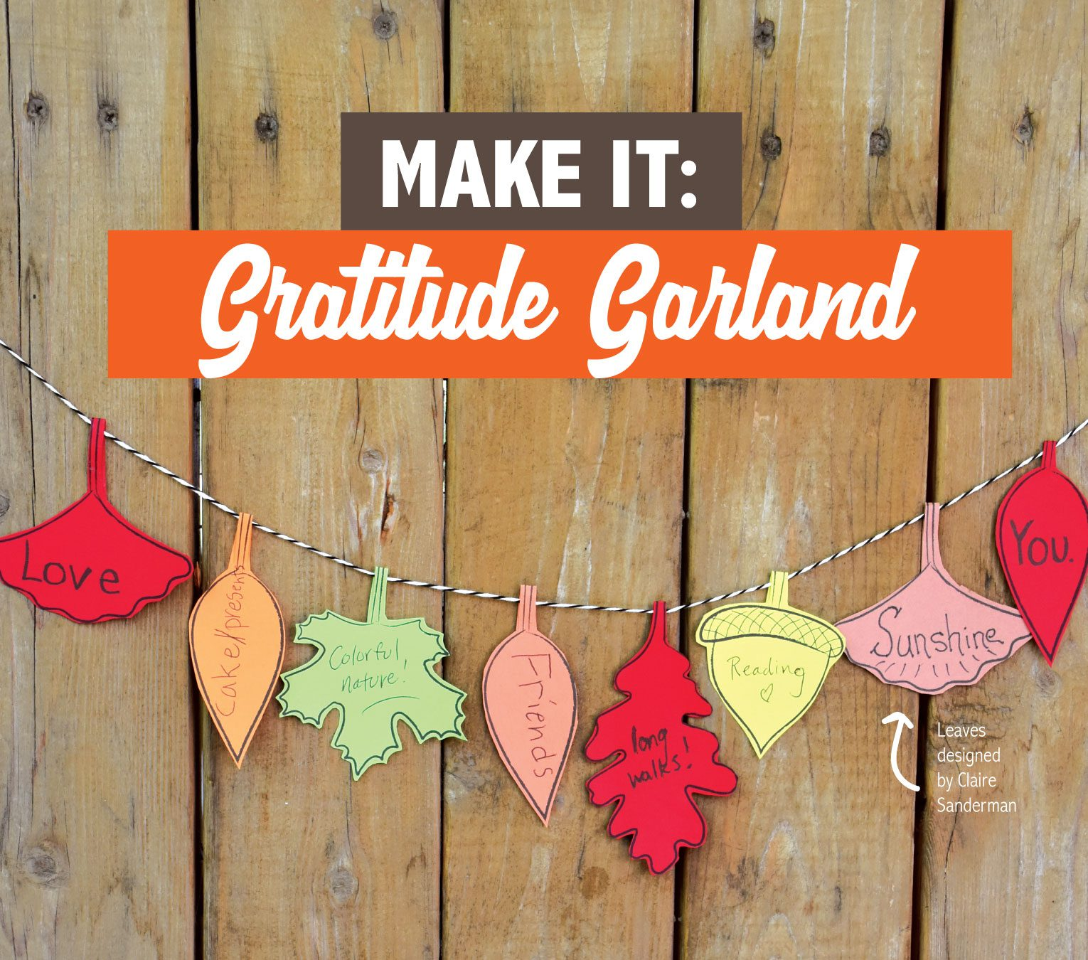Learn how to make this Gratitude Garland!